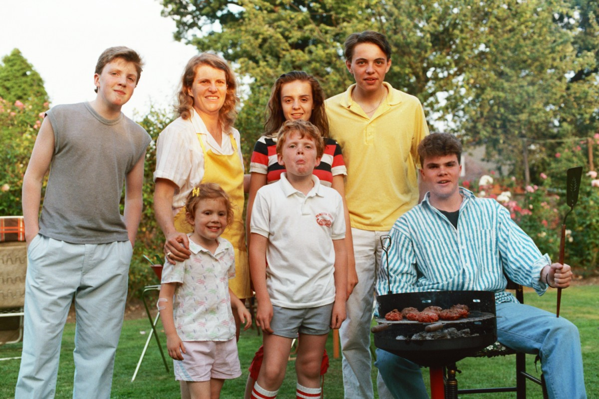 Russ Shearer runs the BBQ in Woodford in the 1980s