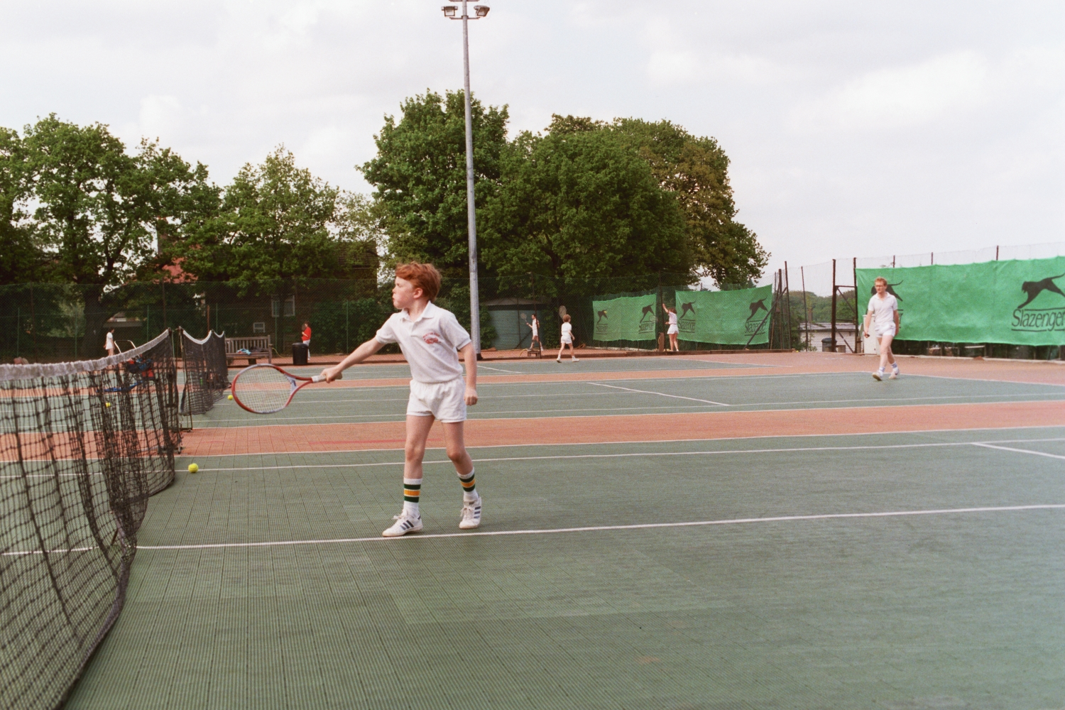 Ed Shearer plays Tennis