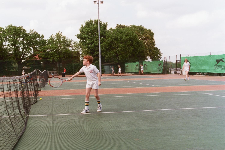 Ed Shearer plays Tennis