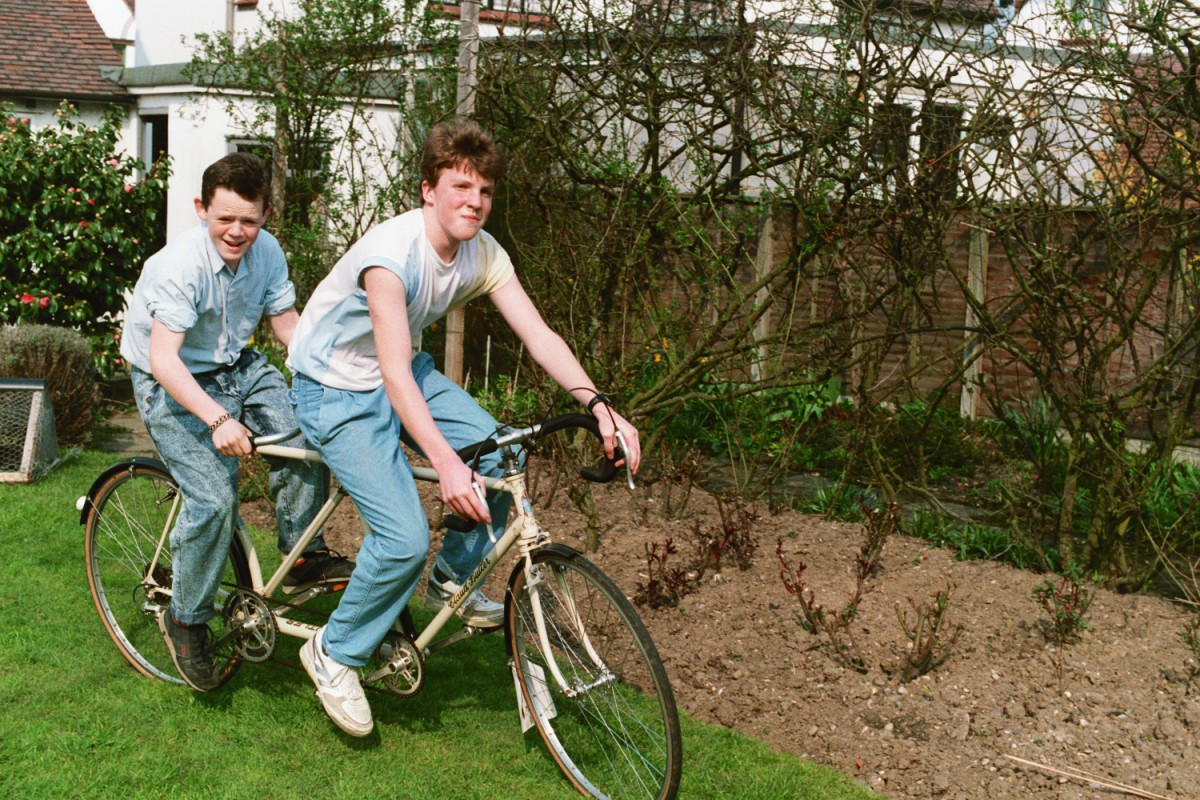 Lucas Vallons - my French Exchange - and I on the tandem