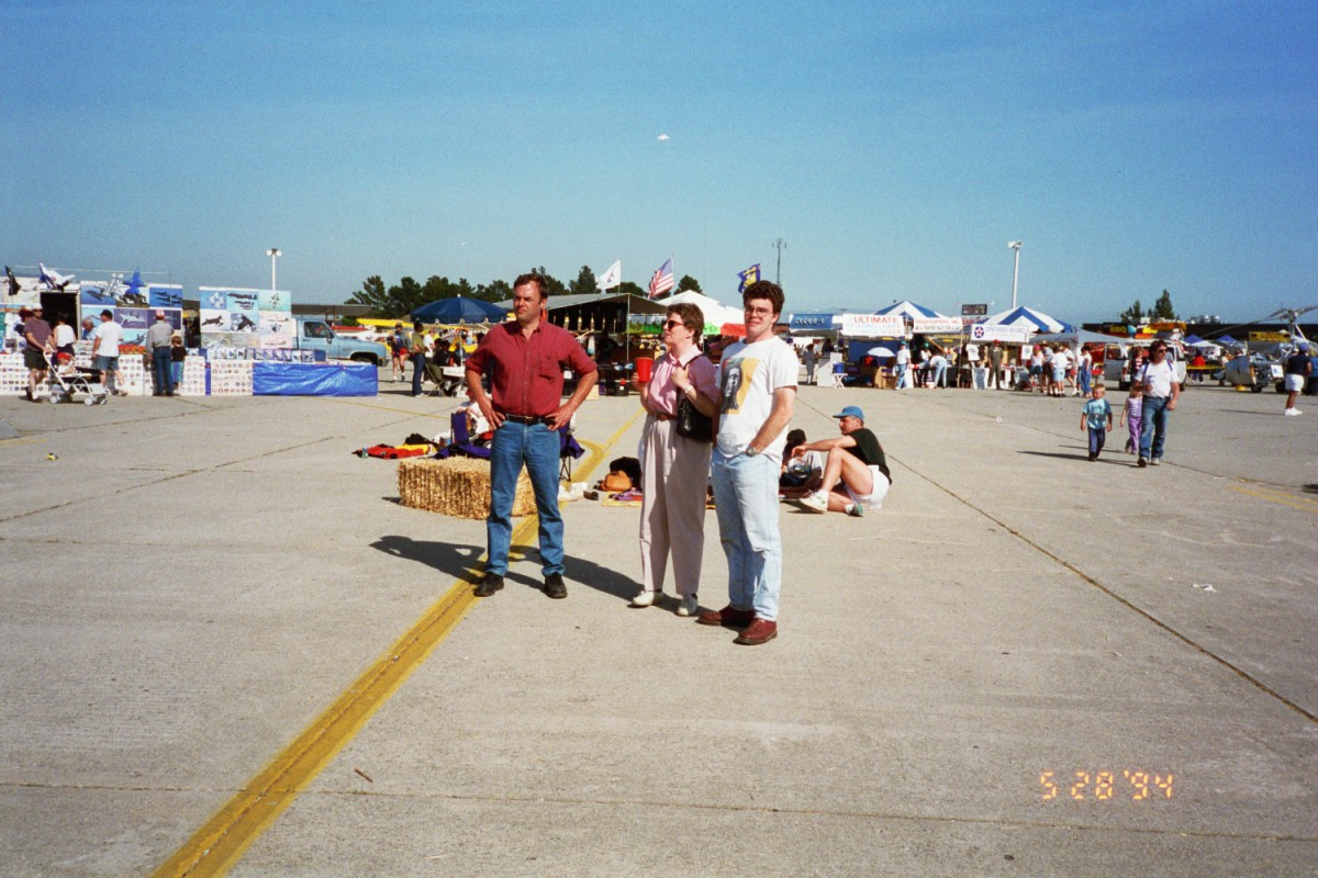 Tom Shearer, Lori Shearer and Russel Shearer at an Air Show in California