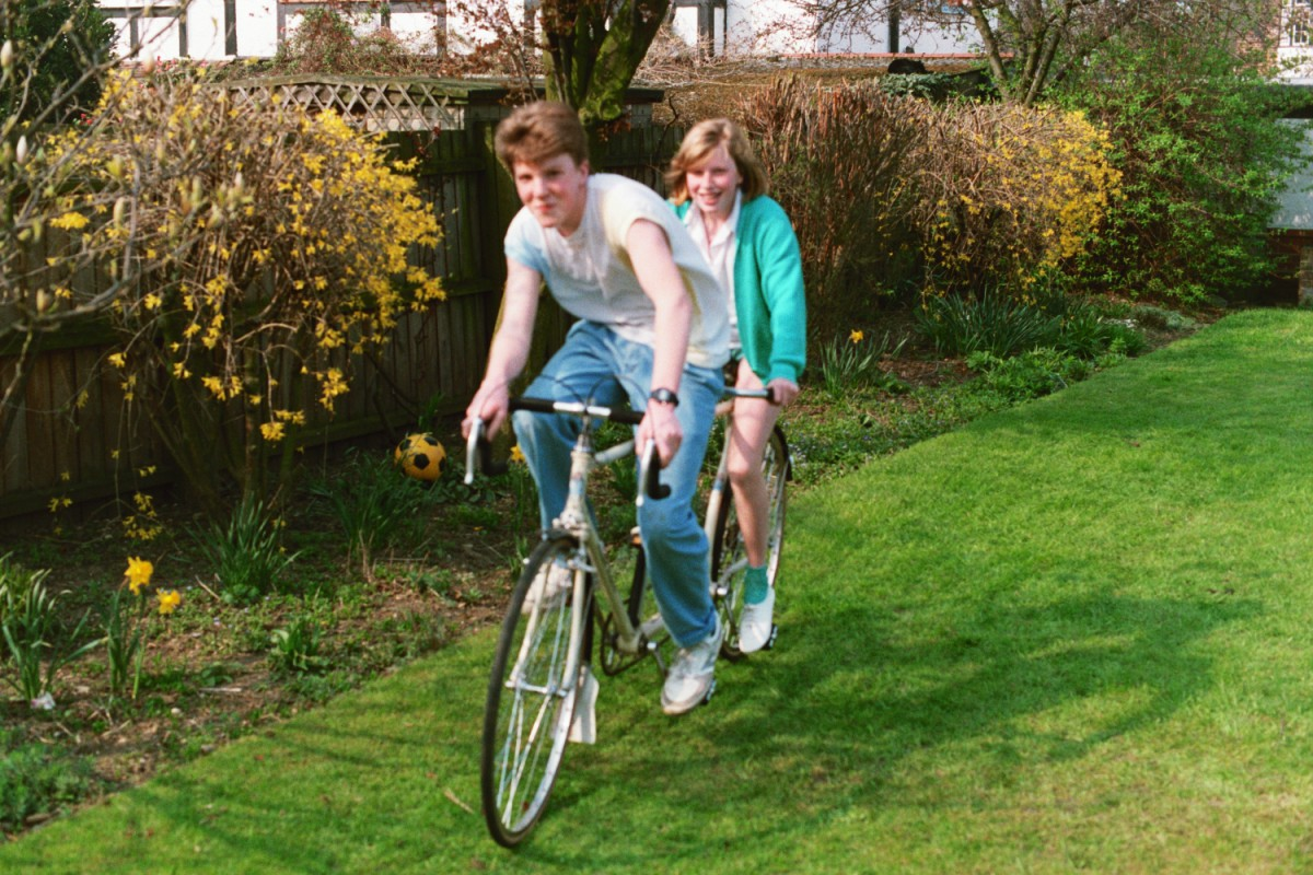 Amy and I on the Tandem