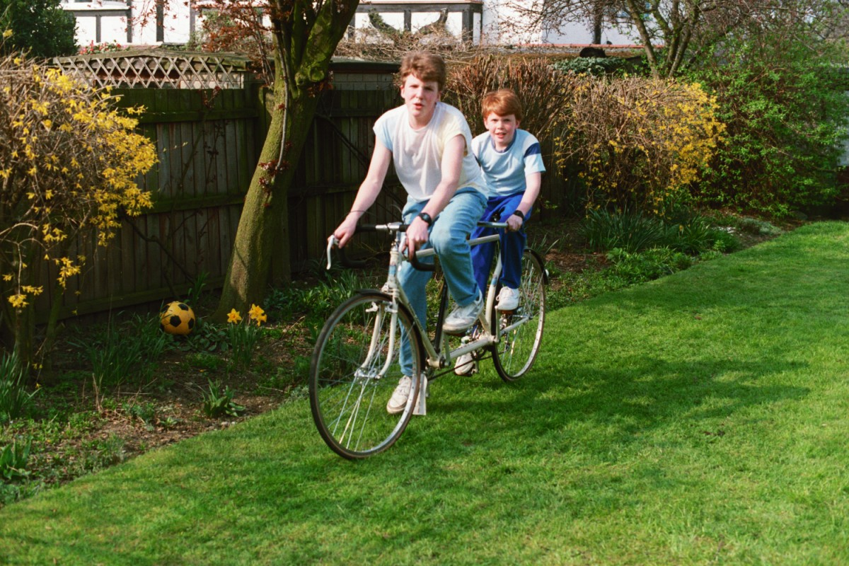 Ed and I on the Tandem