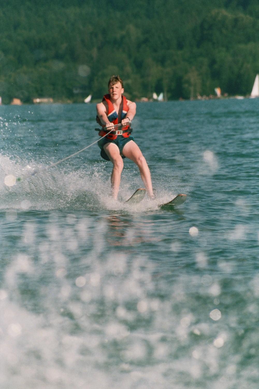 Matt Shearer Waterskiing on the Worthersee, Austria