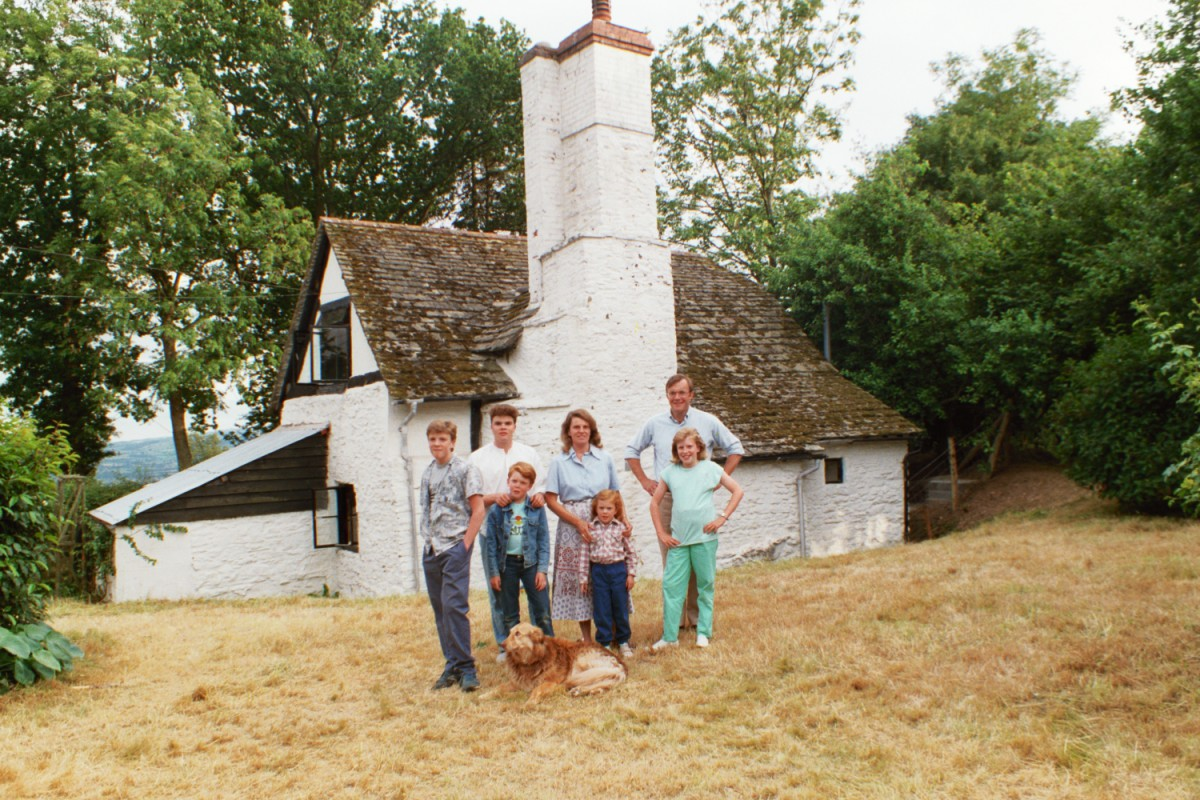 The Shearer Family at Amberslone Cottage in 1980s in Wales/England