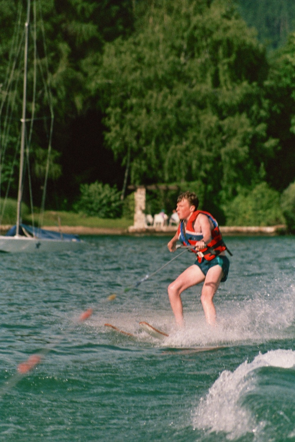 Matt Shearer Waterskiing on the Worthersee, Austria