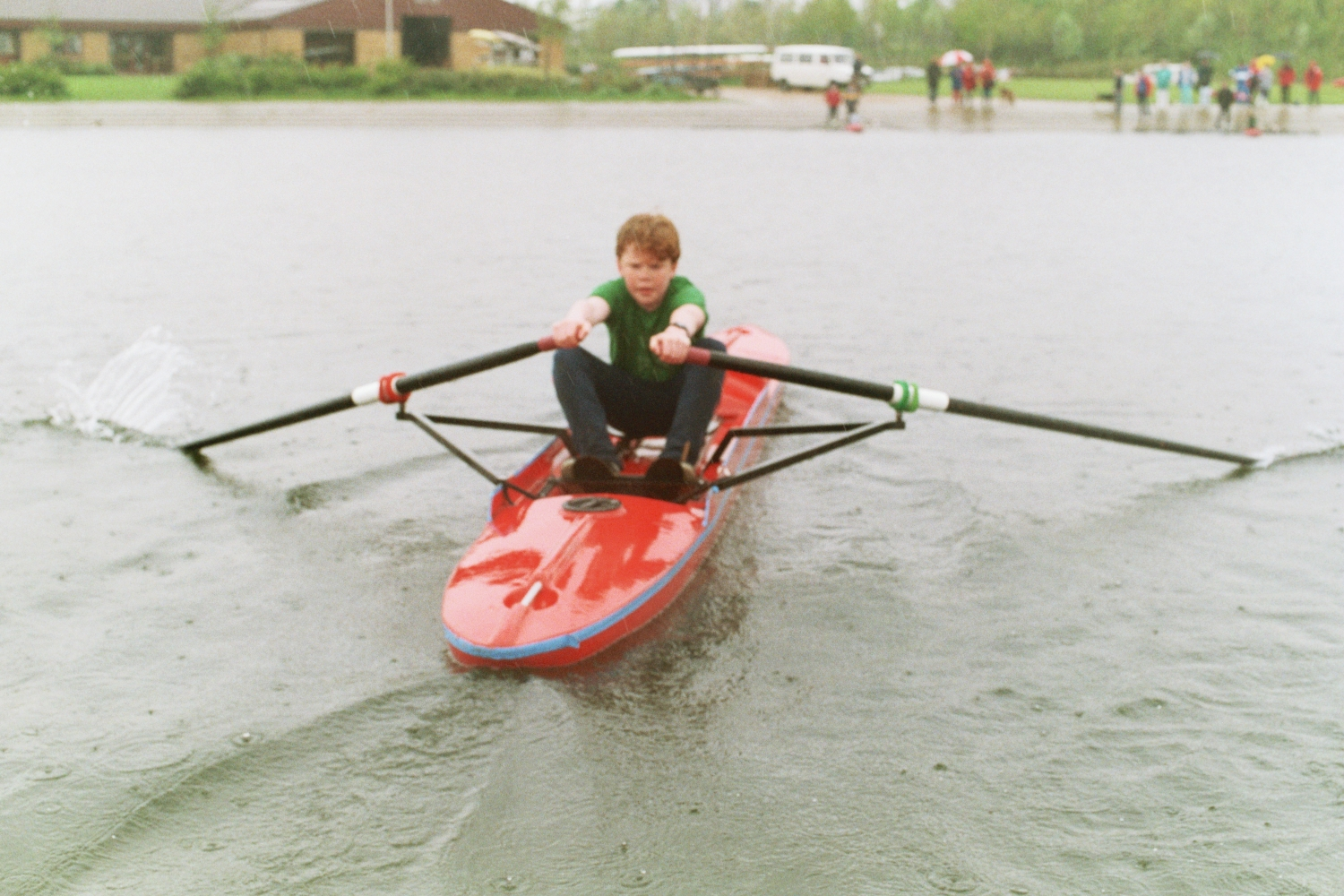 Rowing with Spring Hill Rowing Club - later Lea Rowing Club