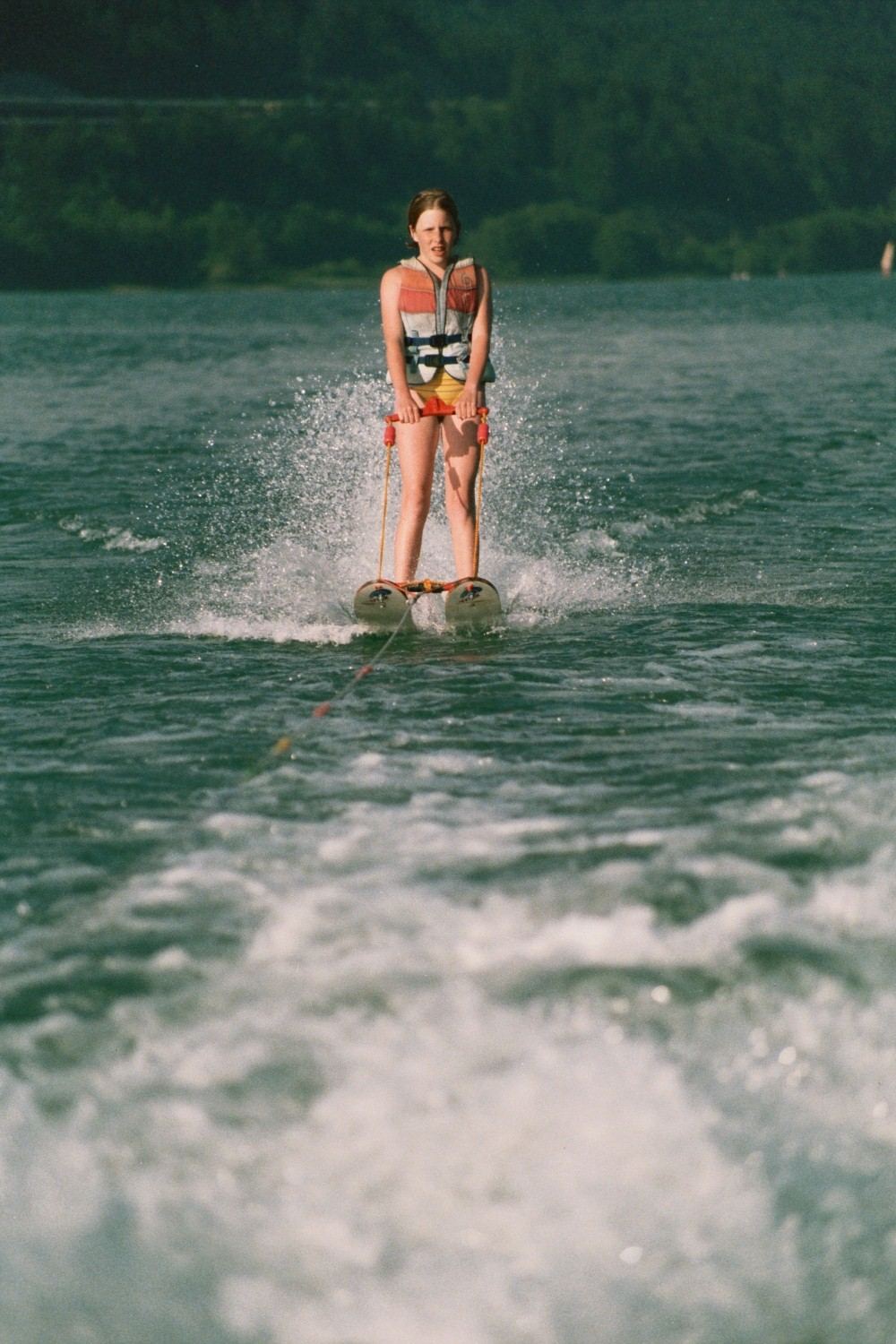 Waterskiing on the Worthersee, Austria