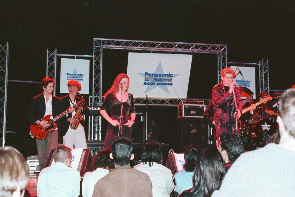 The Paracetamols at Rock School, with Elspeth Turnbull on backing vocals