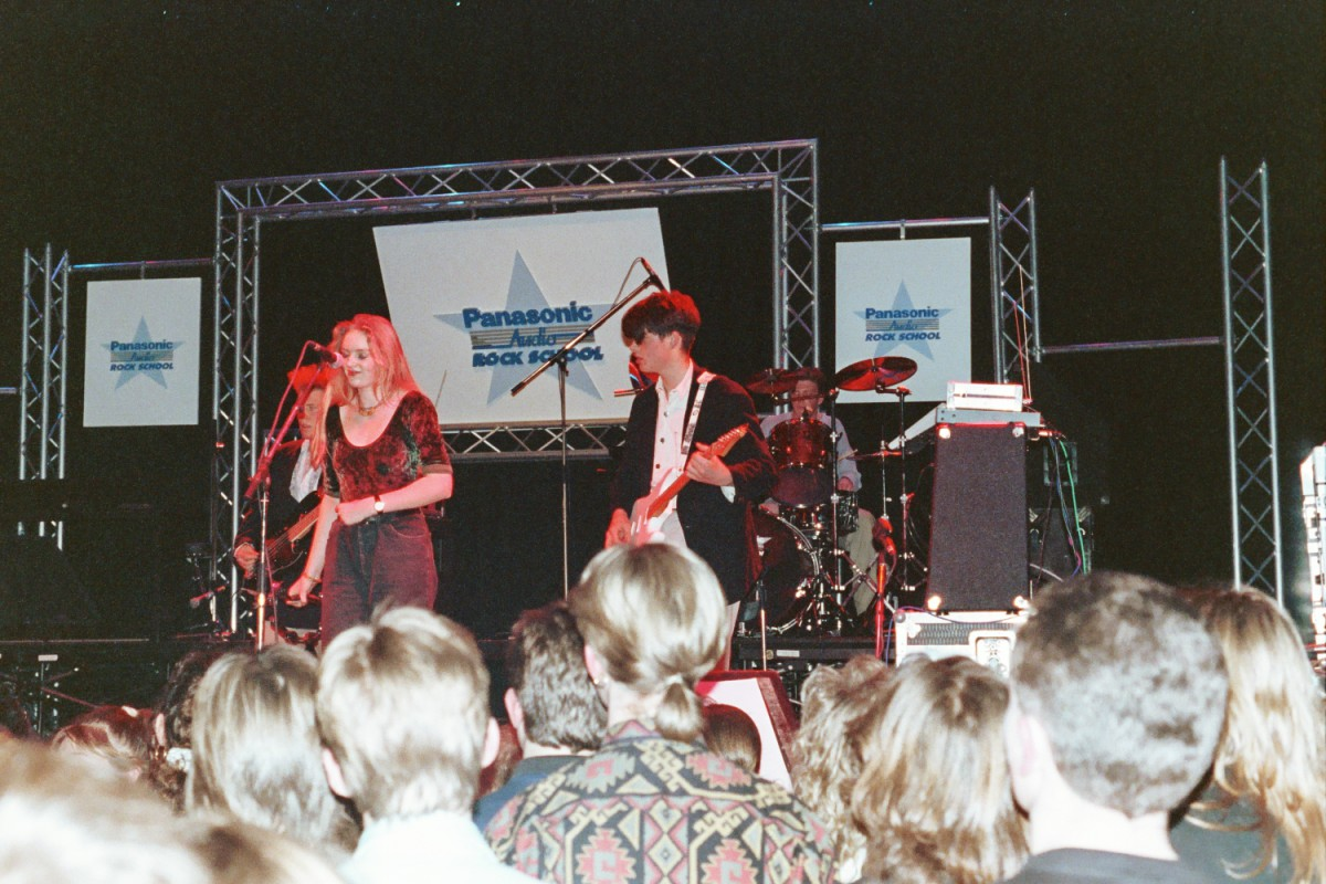 The Paracetamols at Rock School, with Honor Marshall on backing vocals