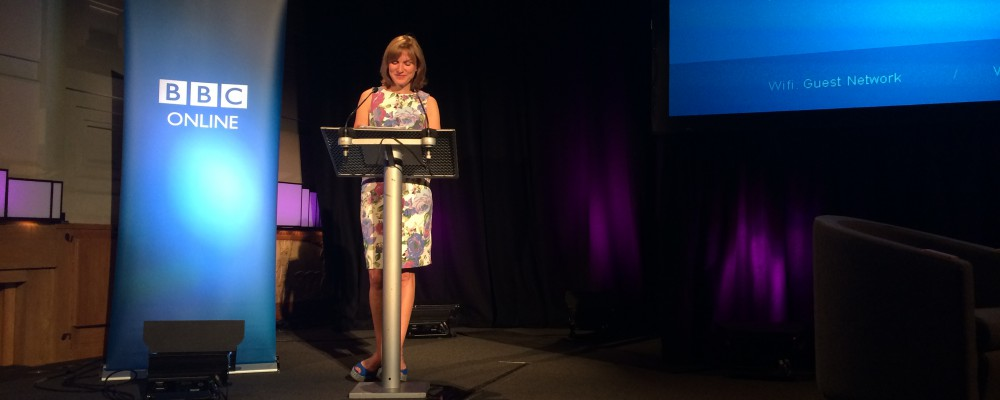 Fiona Bruce at the BBC Online Briefing