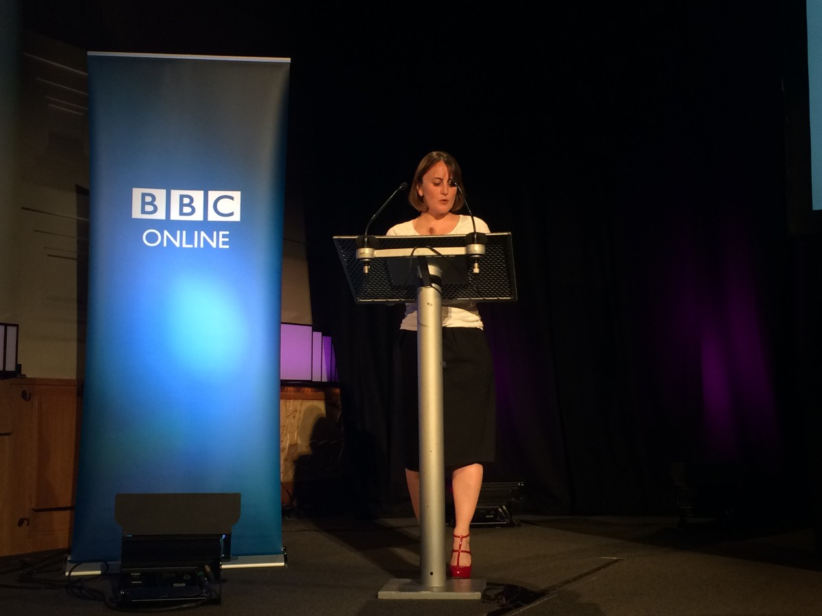 Carmen from BBC Audiences at the BBC Online Briefing June 2014