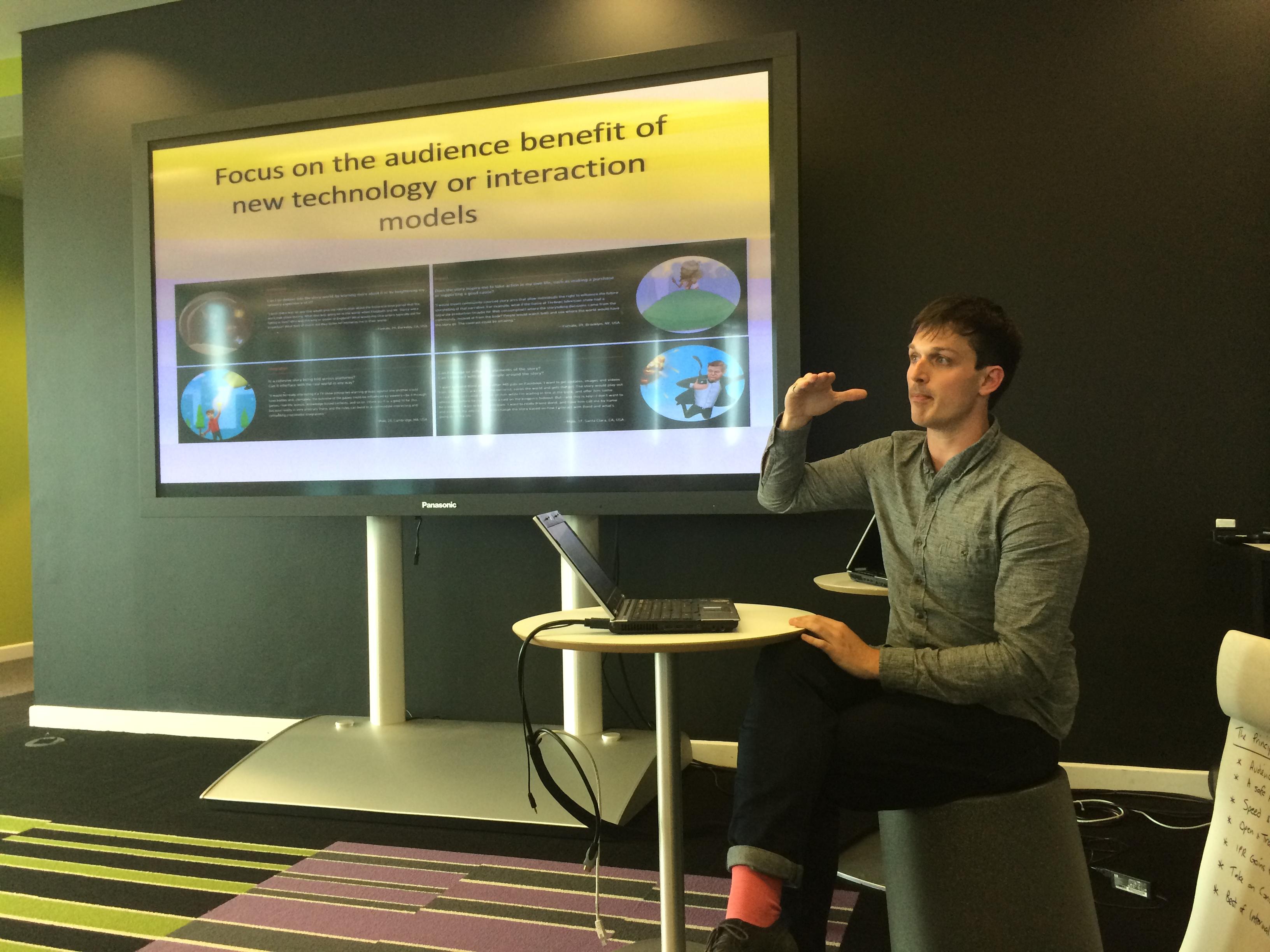 Matt Farrar gives an inspiring talk