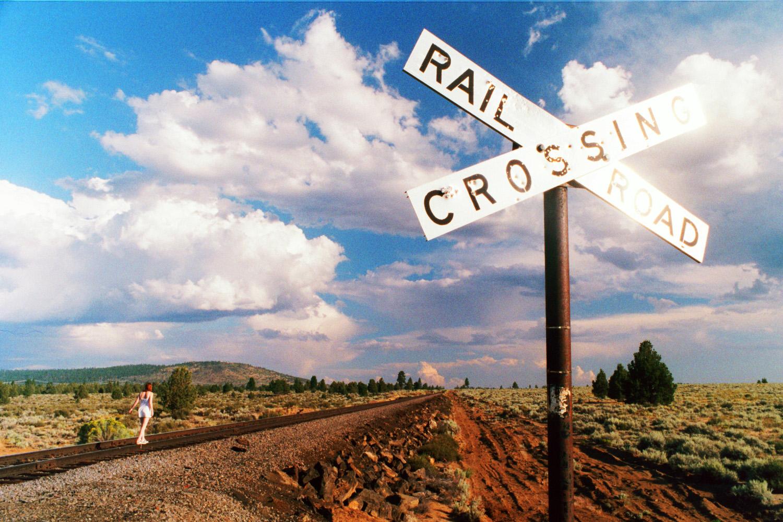 Virginia on the railway tracks, Oregon, USA