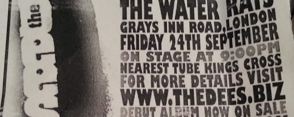 Water Rats Theatre Gig, 24th Sept, 2004