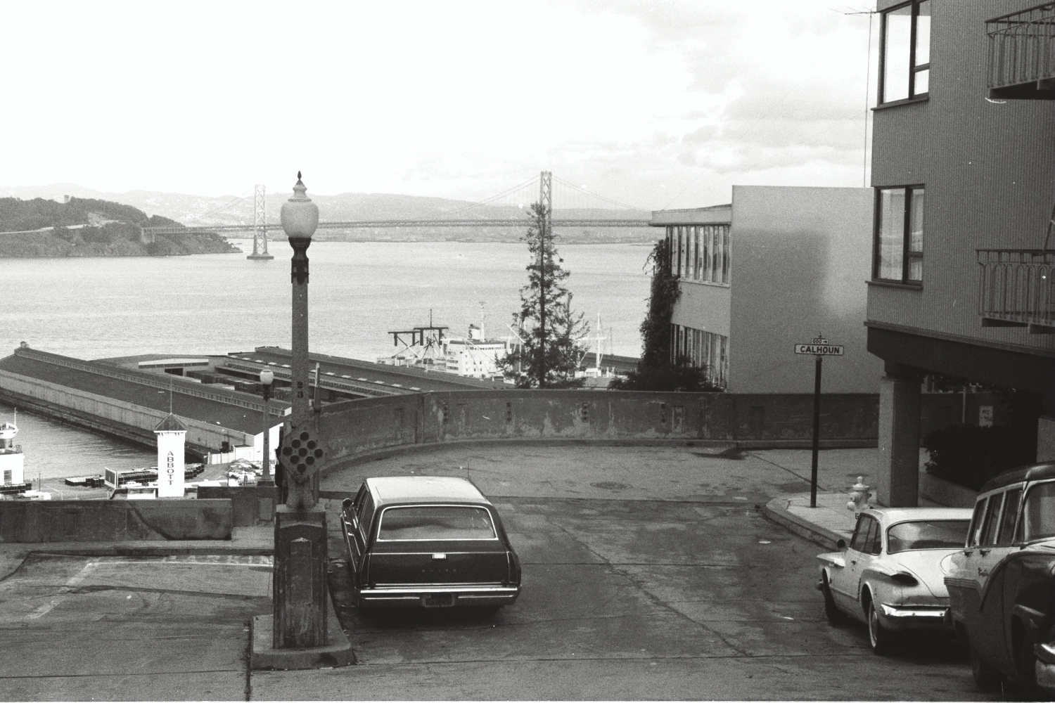 View of the Bay Bridge, San Francisco, late 1960s
