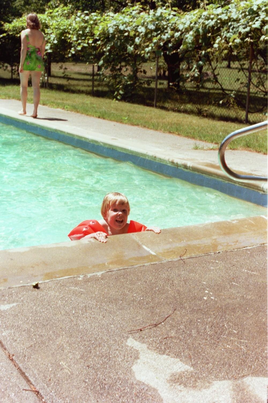 Matt Shearer in the Pool at Huntinton Hills, Rochester, NY, USA