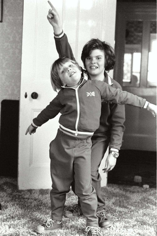Matt Shearer and Russel Shearer in classic Dance Duo pose