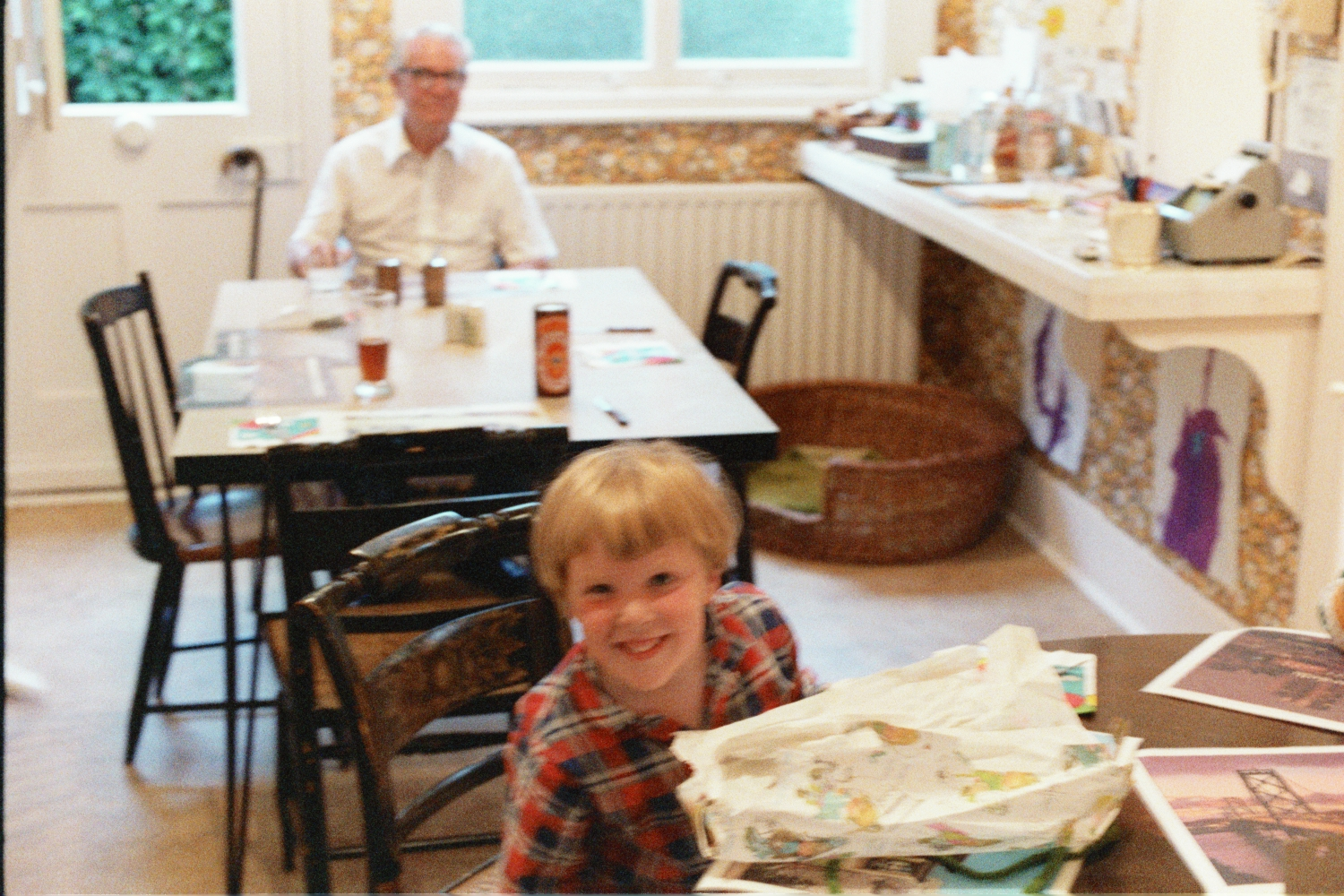 In the kitchen with Grampa - Lee Rusling