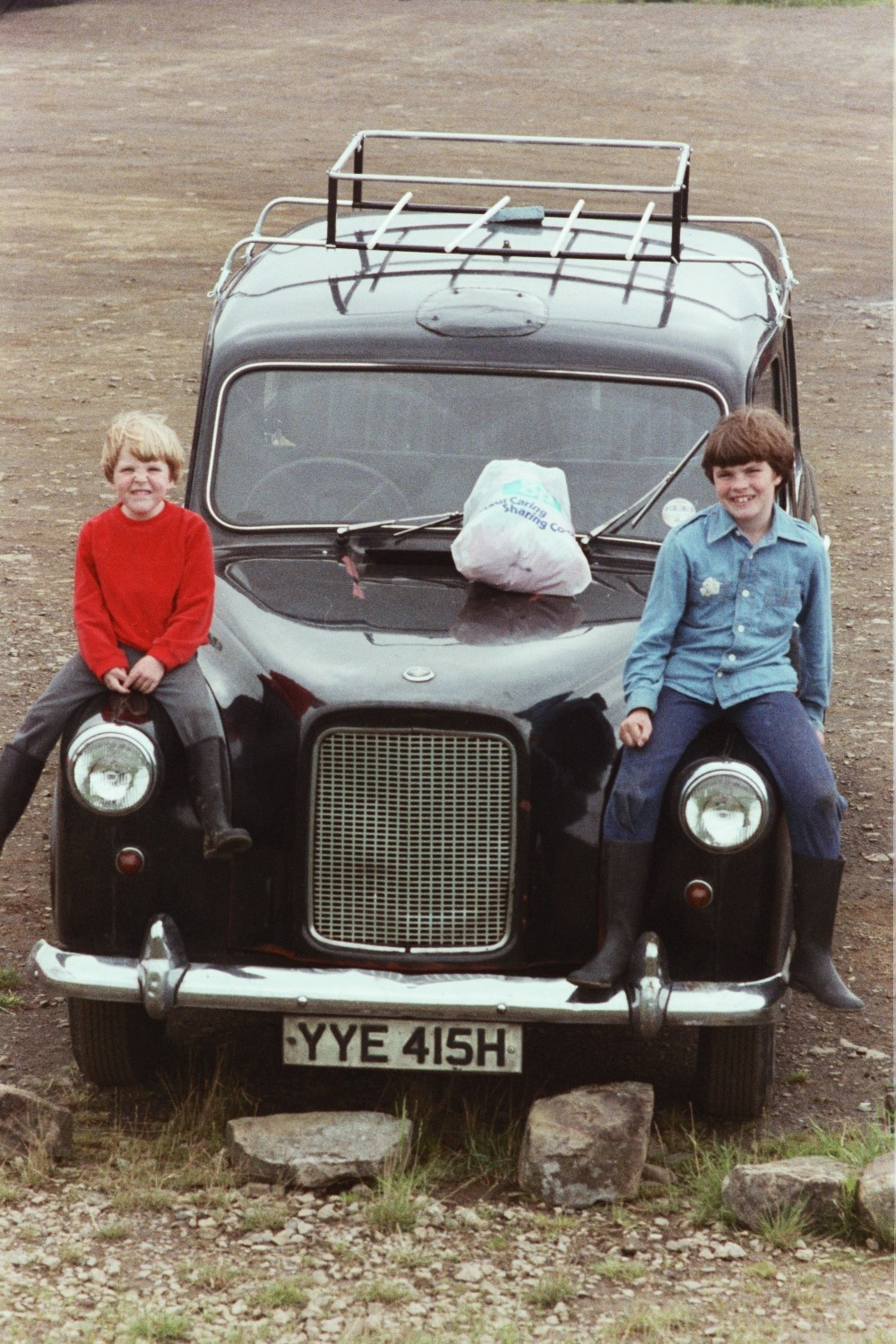 Russel and I on the old London Taxi which we had in the 1970s