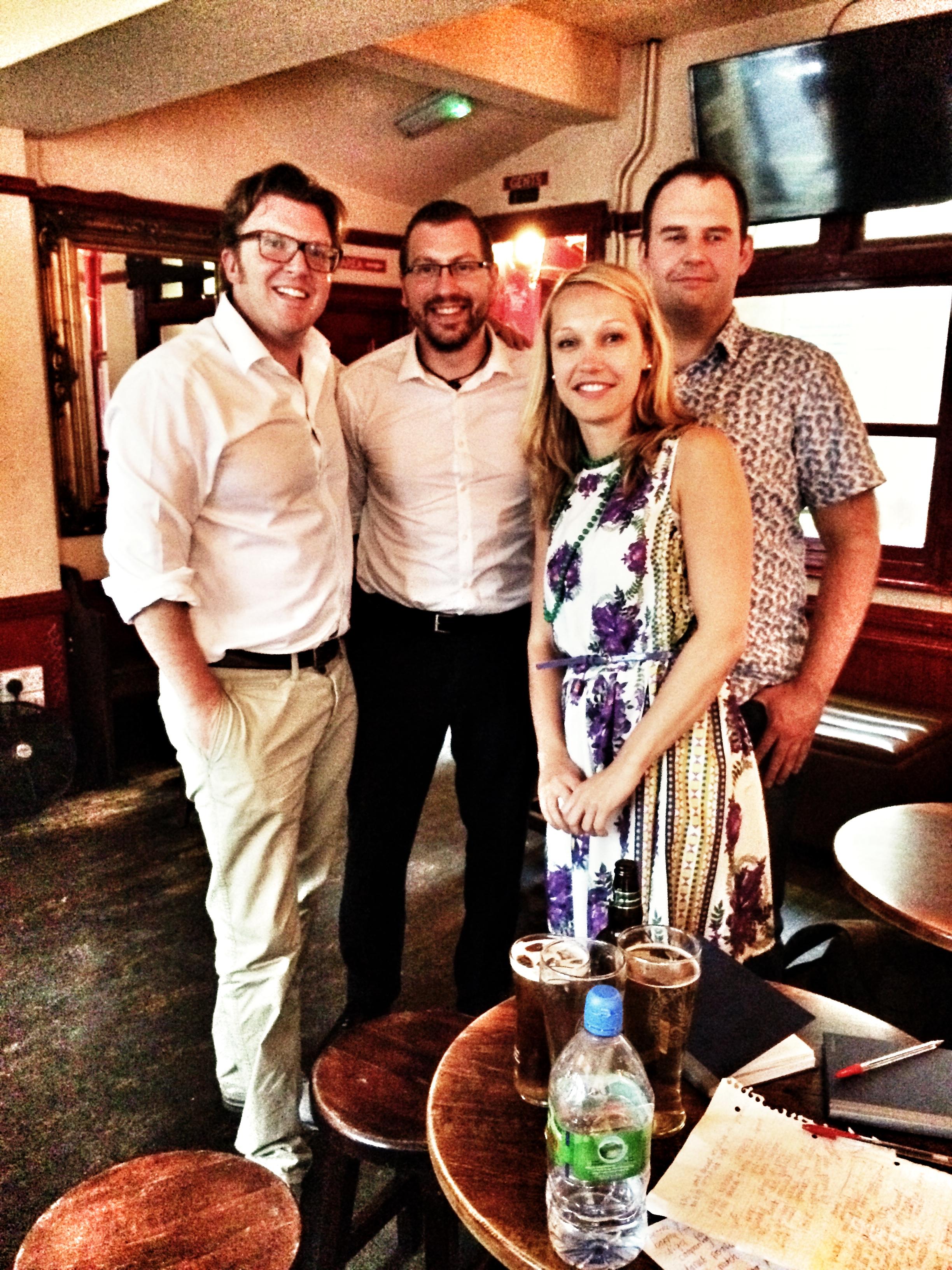 From left to right: Matt Shearer, Michael Satterthwaite, Melanie Moeller, Paul Eccles