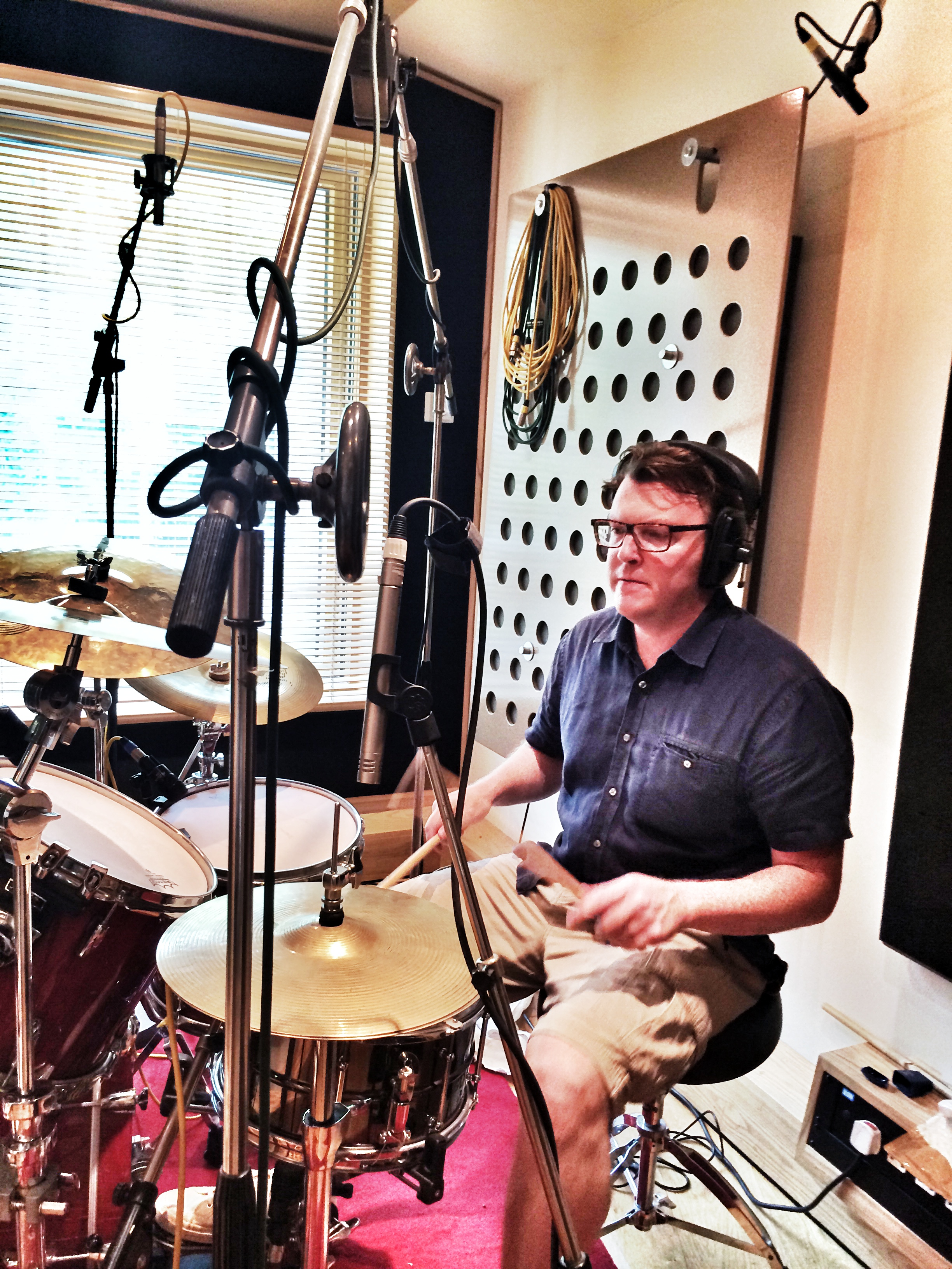 Matt Shearer - at the end of the drums session @Ten21 Studios