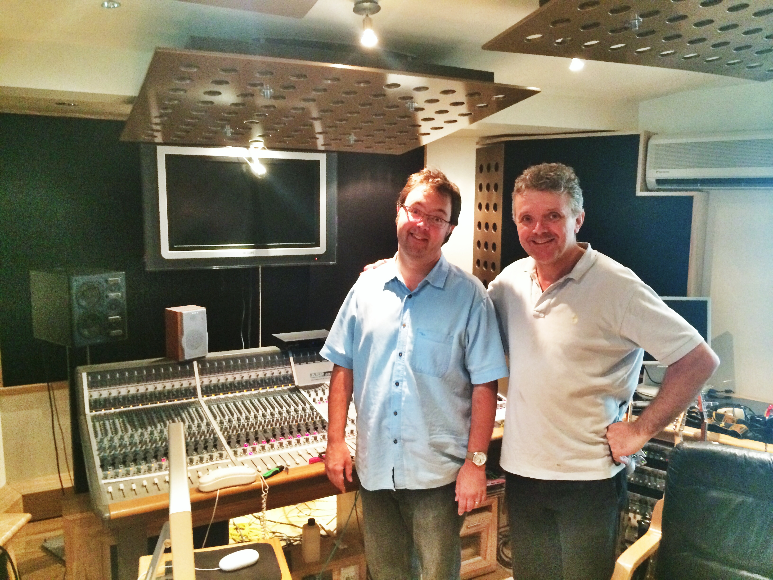 Niall Acott and Sean Kenny at Ten21 Studios