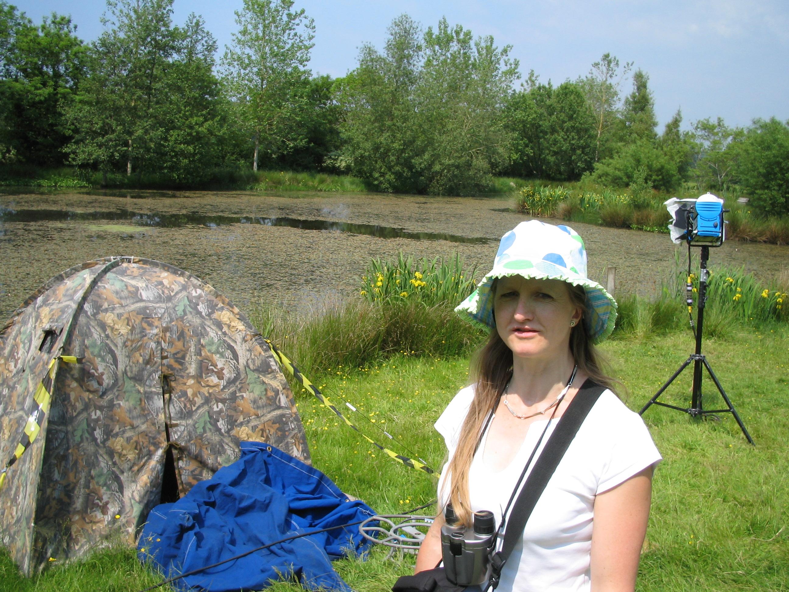 Rebecca Bangay at Springwatch, 2006