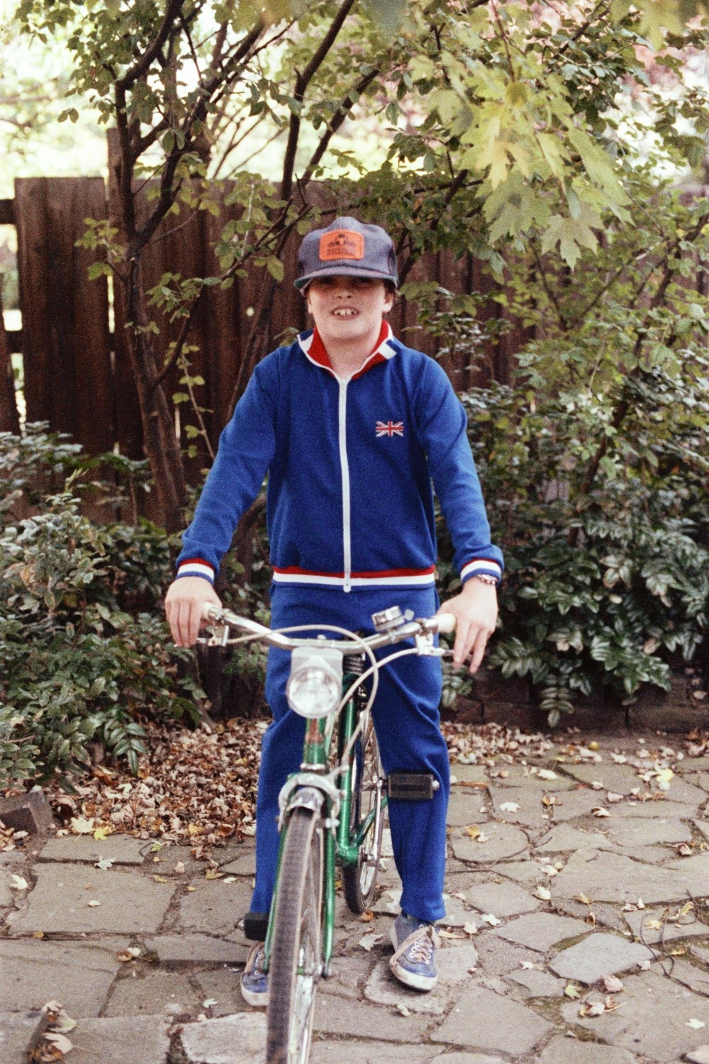Russel Shearer at the age of 9, on the TEMPO Bike