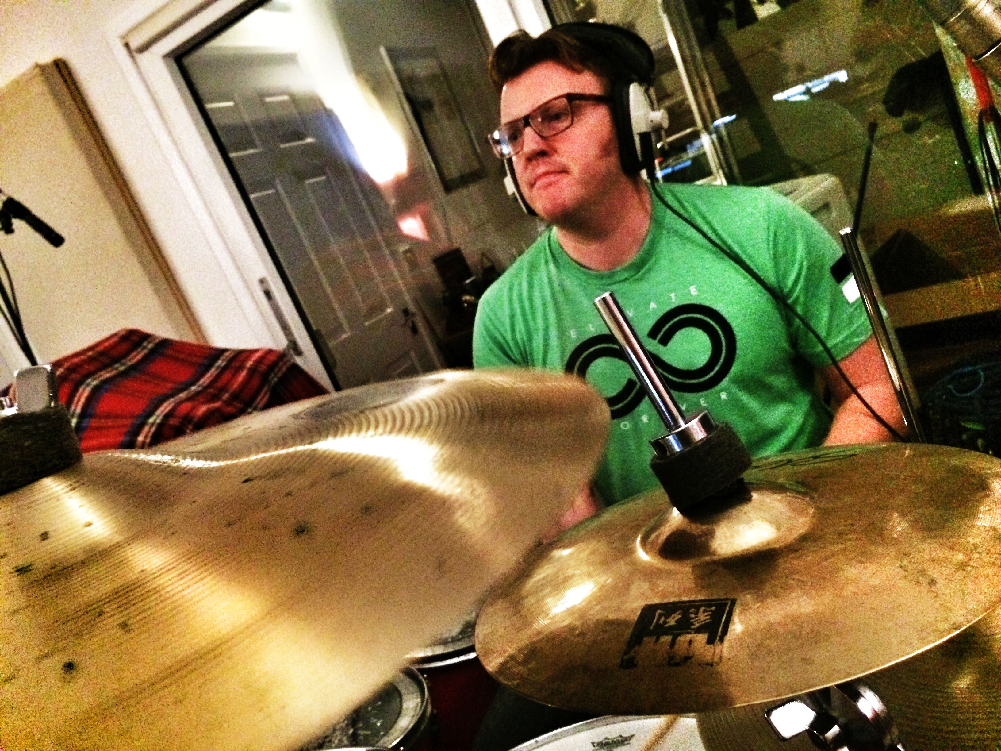 Matt Shearer on drums at NJA Audio Productions