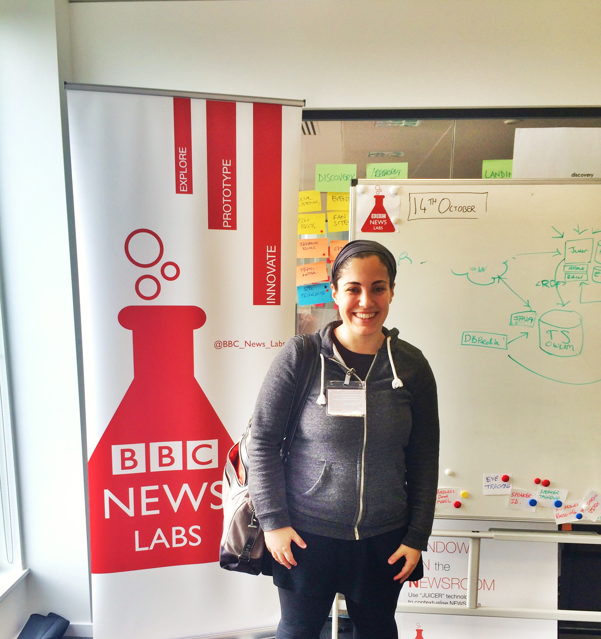 Melody Kramer from NPR - visitng BBC News Labs