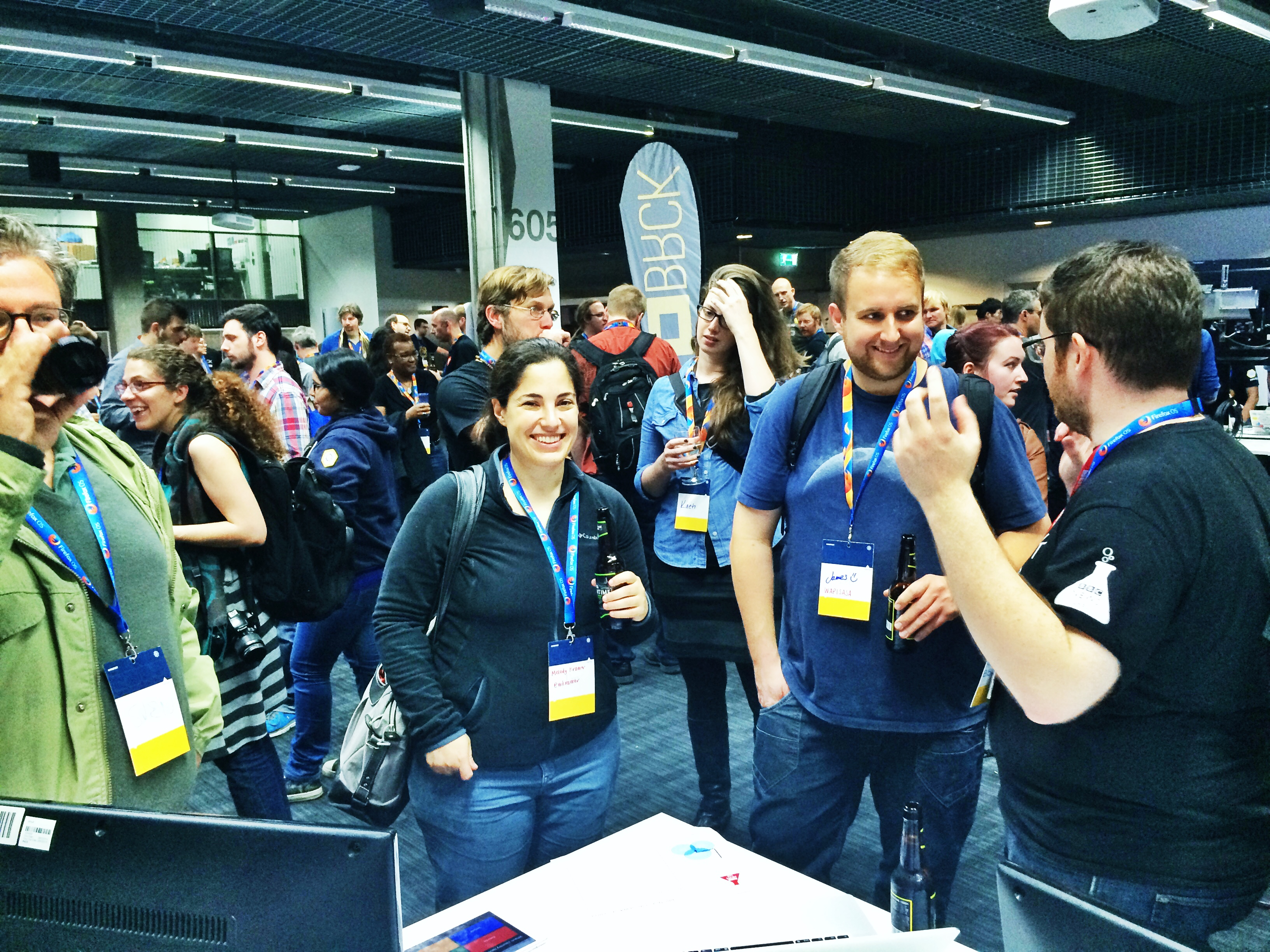 Melody Kramer visits the BBC News Labs stand at Mozfest 2014 Science Fair