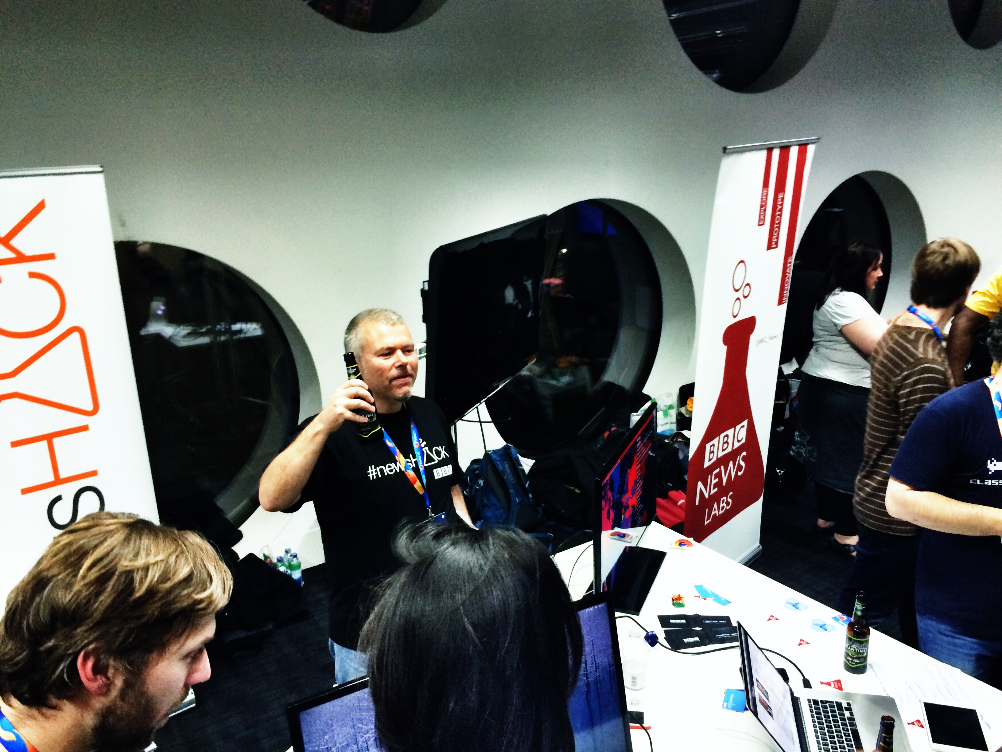Graham Lenton at Mozfest 2014 Science Fair with BBC News Labs