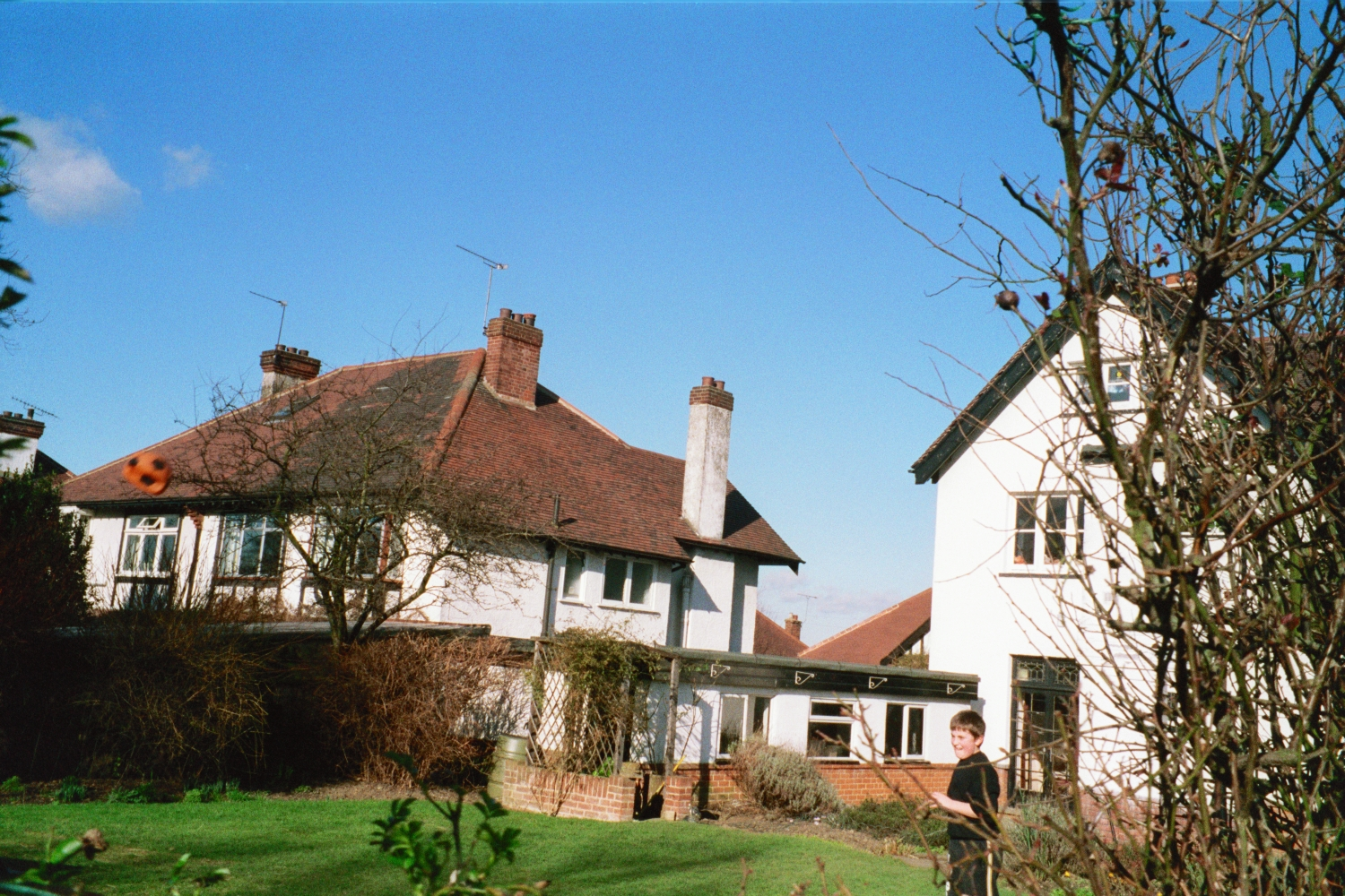 The garden in Woodford in 1990 - before the conservatory