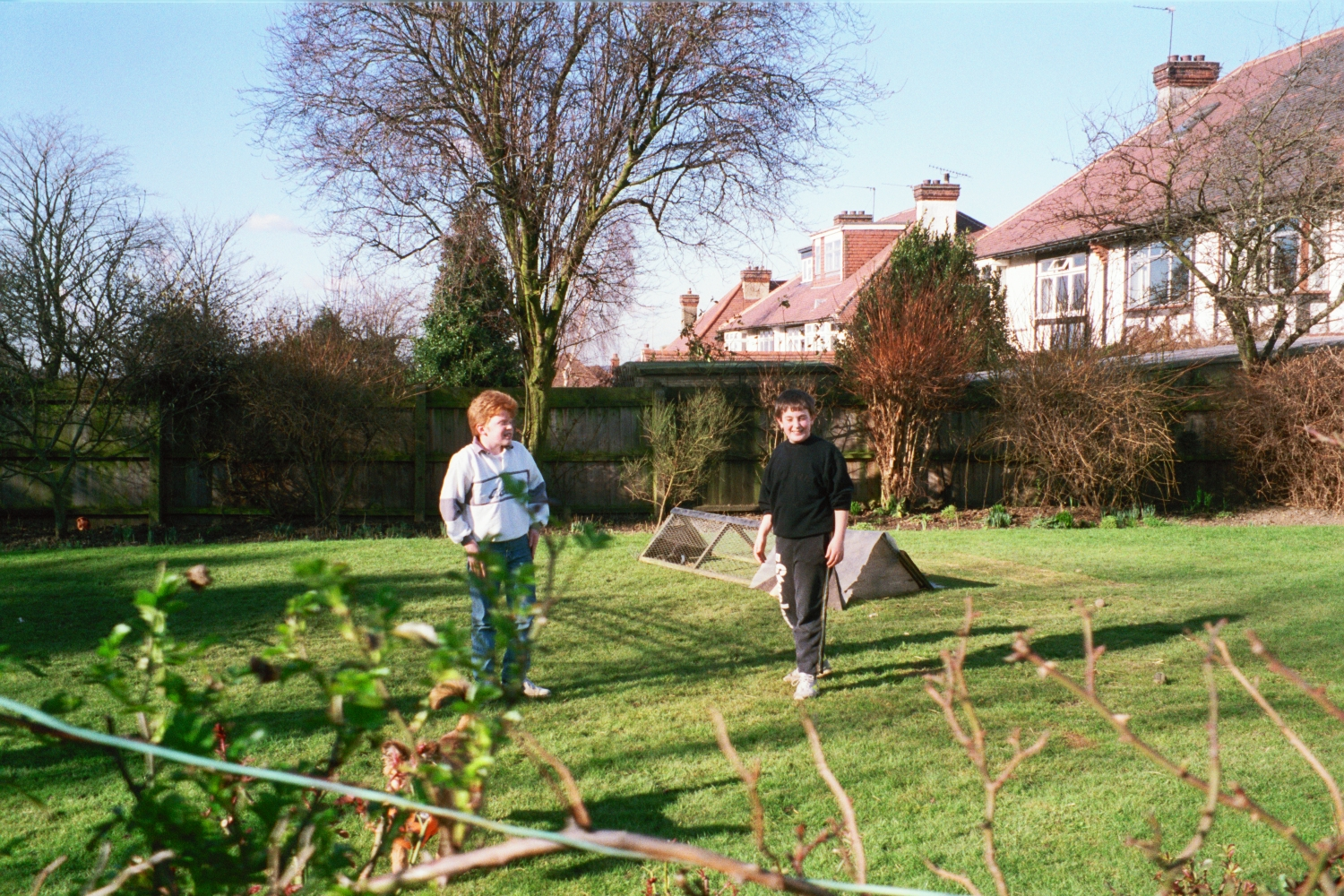 Ed Shearer and Robert Spencer in Woodford in 1990