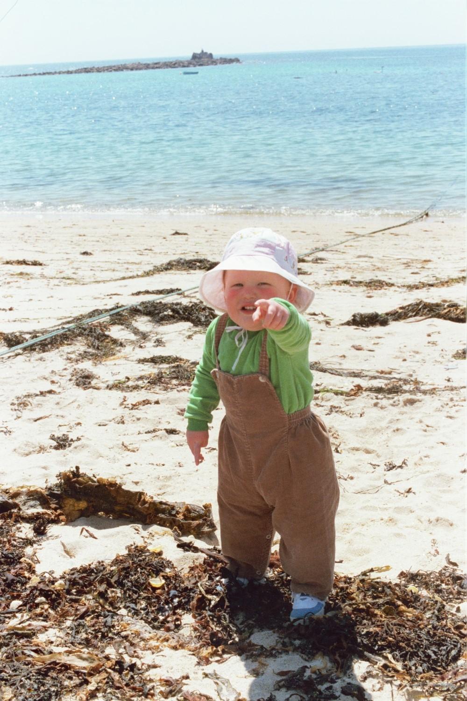 Ed Shearer on the beach in 1979