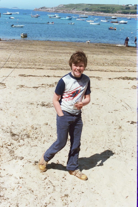 Russel Shearer on the Beach in 1979