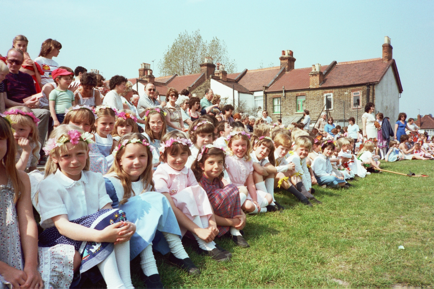 Maypole Dancing at Wells Primary School, 1982, Woodford Green, London