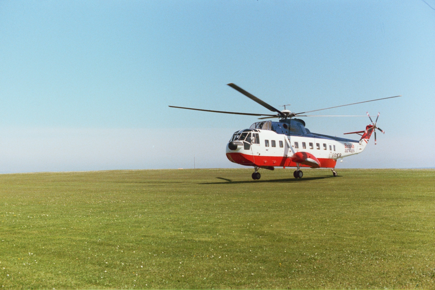 Helicopter to the Scilly Isles in 1979, with The Shearers