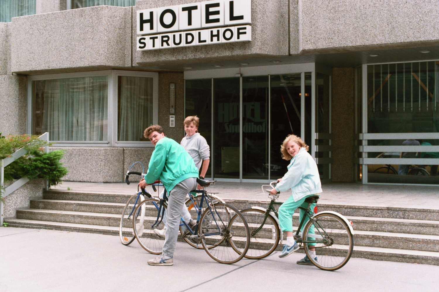 Matt Shearer, Amy Shearer and Russel Shearer at Hotel Strudlhof in Vienna