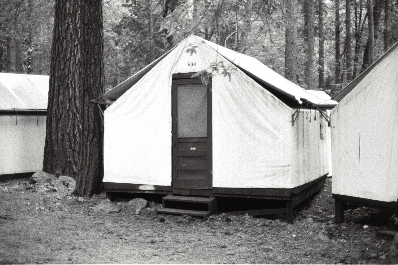 Camp Curry in Yosemite, in the late 1970s. California USA