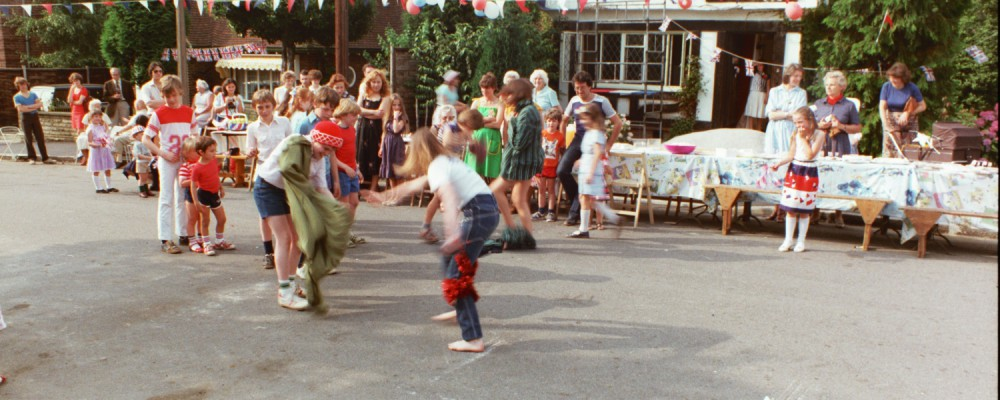 Street Party at Woodside Road for Charles & Dianna's Royal Wedding in 1981, London