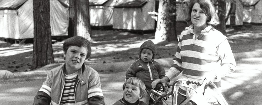 Russel Shearer, Matt Shearer, Amy Shearer, and Lori Shearer at Yosemite in the late 1970s. USA