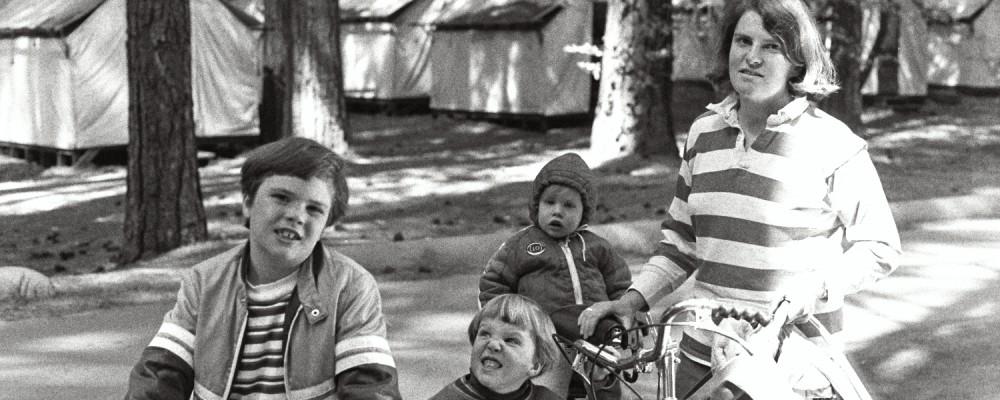Russel Shearer, Matt Shearer, Amy Shearer, and Lori Shearer at Yosemite in the late 1970s. USA