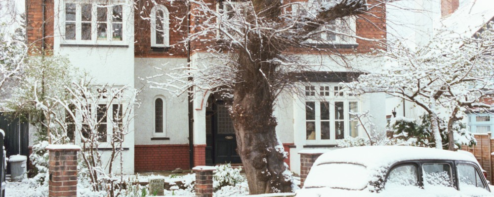 Woodford in a Snowy February in 1978, Essex, London