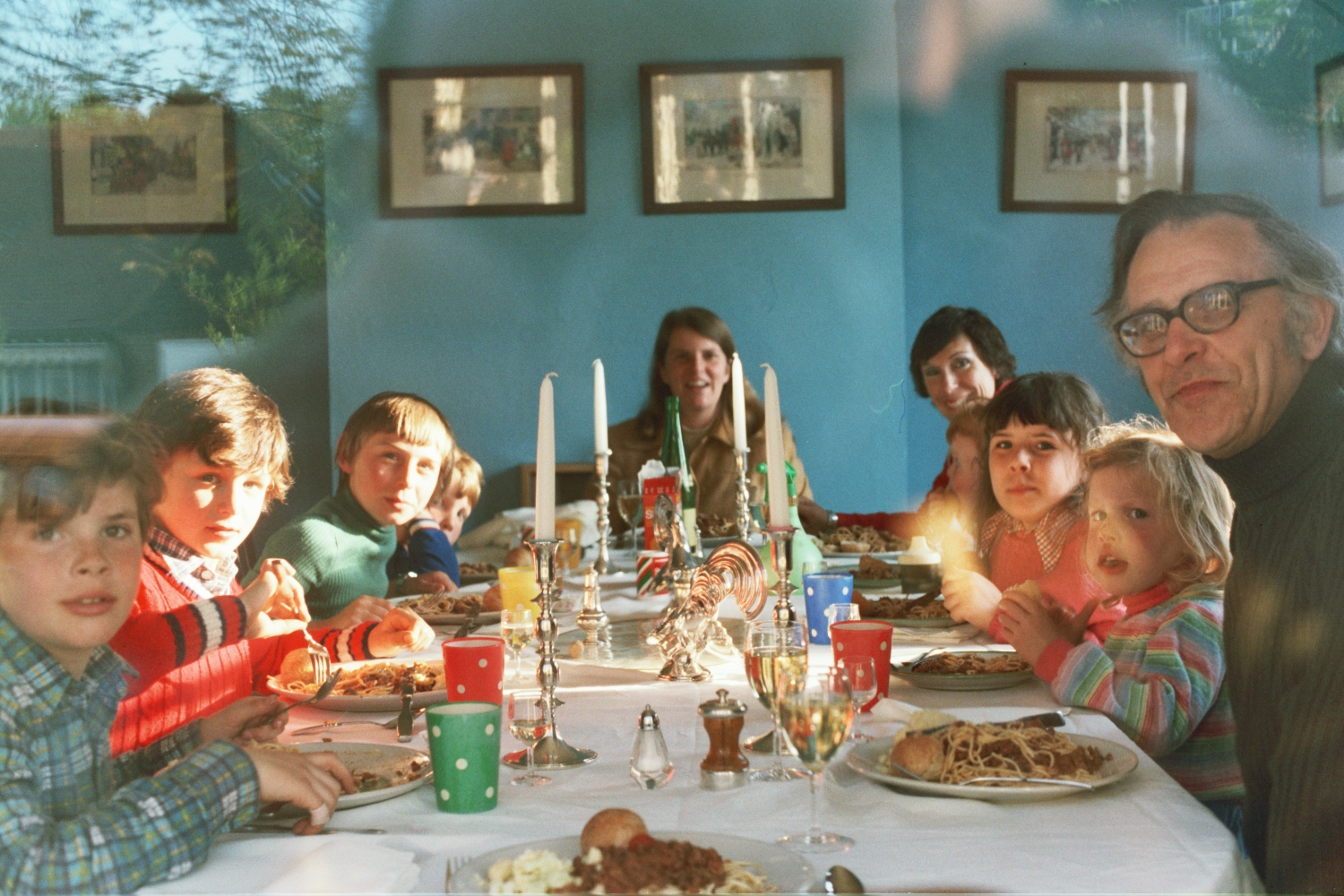 The Shearer Family and the Hunt Family at Dinner in Woodford in the 1980s