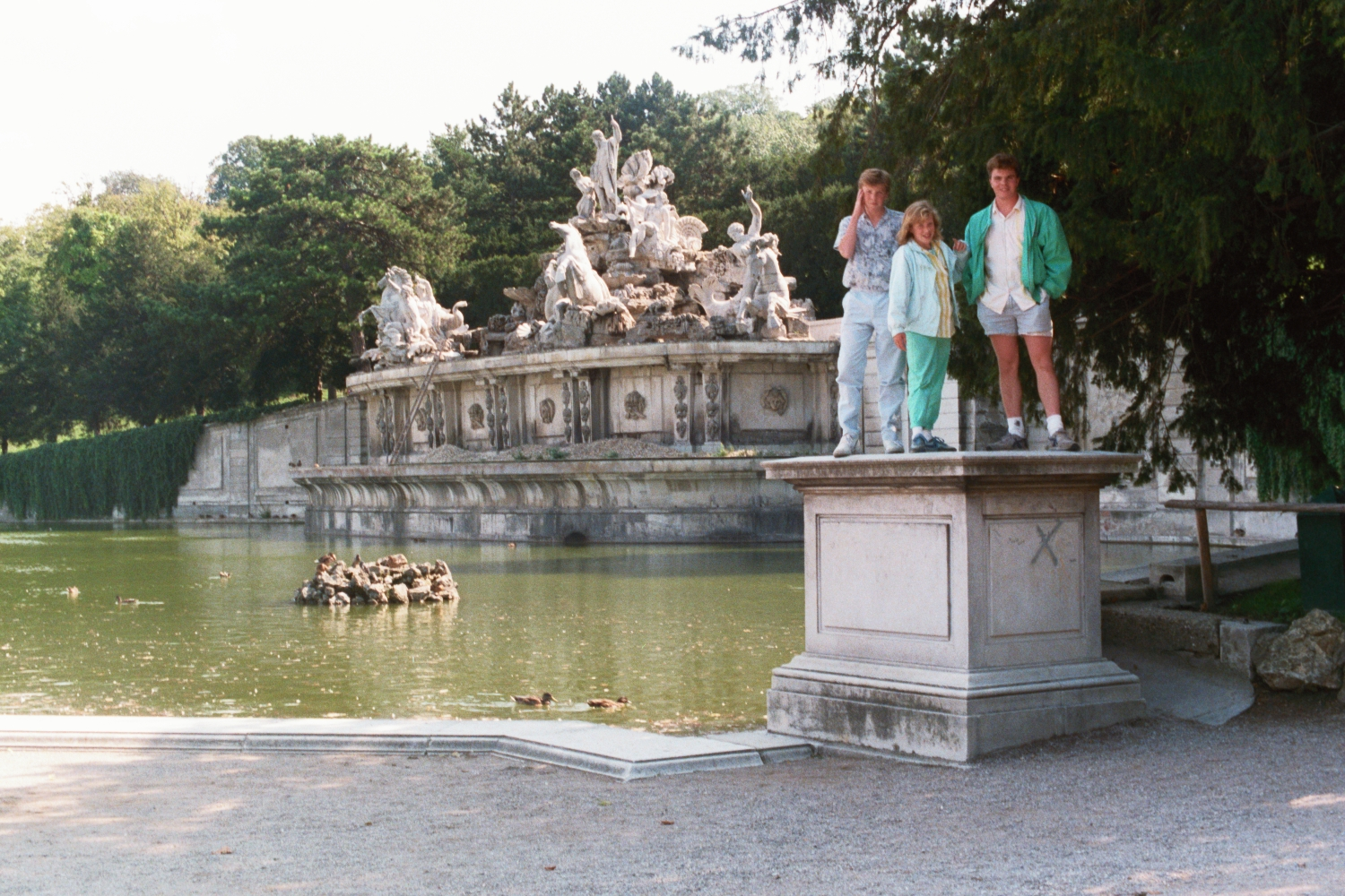 Matt Shearer, Amy Shearer and Russel Shearer at Schonbrunn Palace
