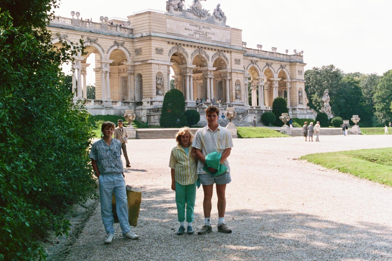 Matt Shearer, Amy Shearer and Russel Shearer at Schonbrunn Palace