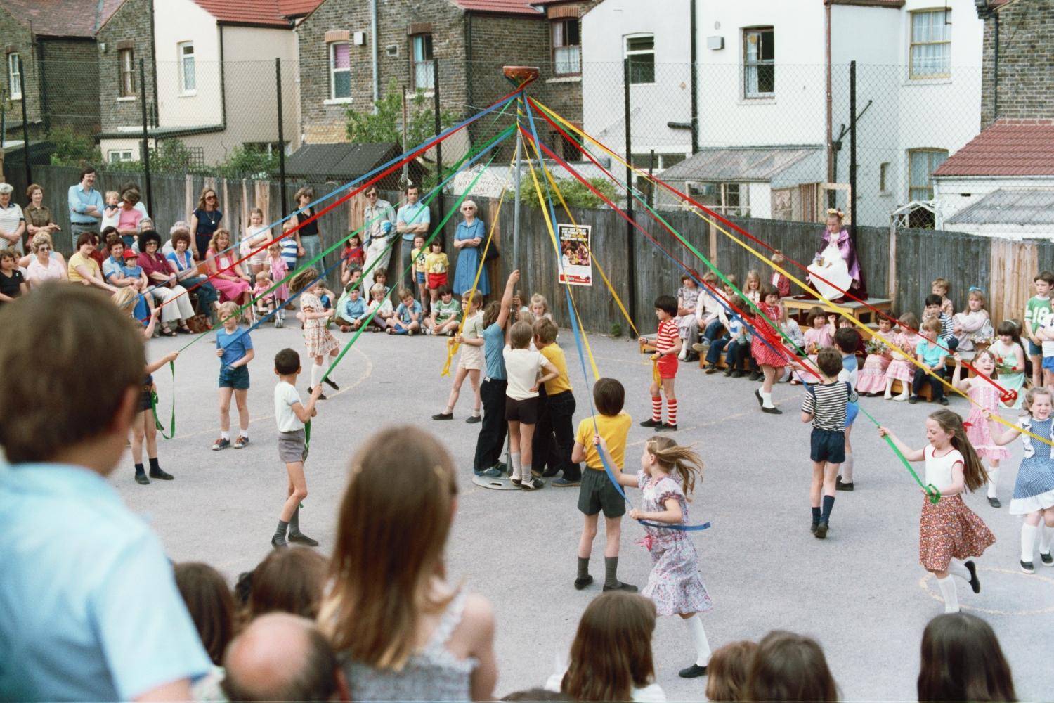 Maypole Dancing at Wells Primary School in Woodford Green, London - 1980s