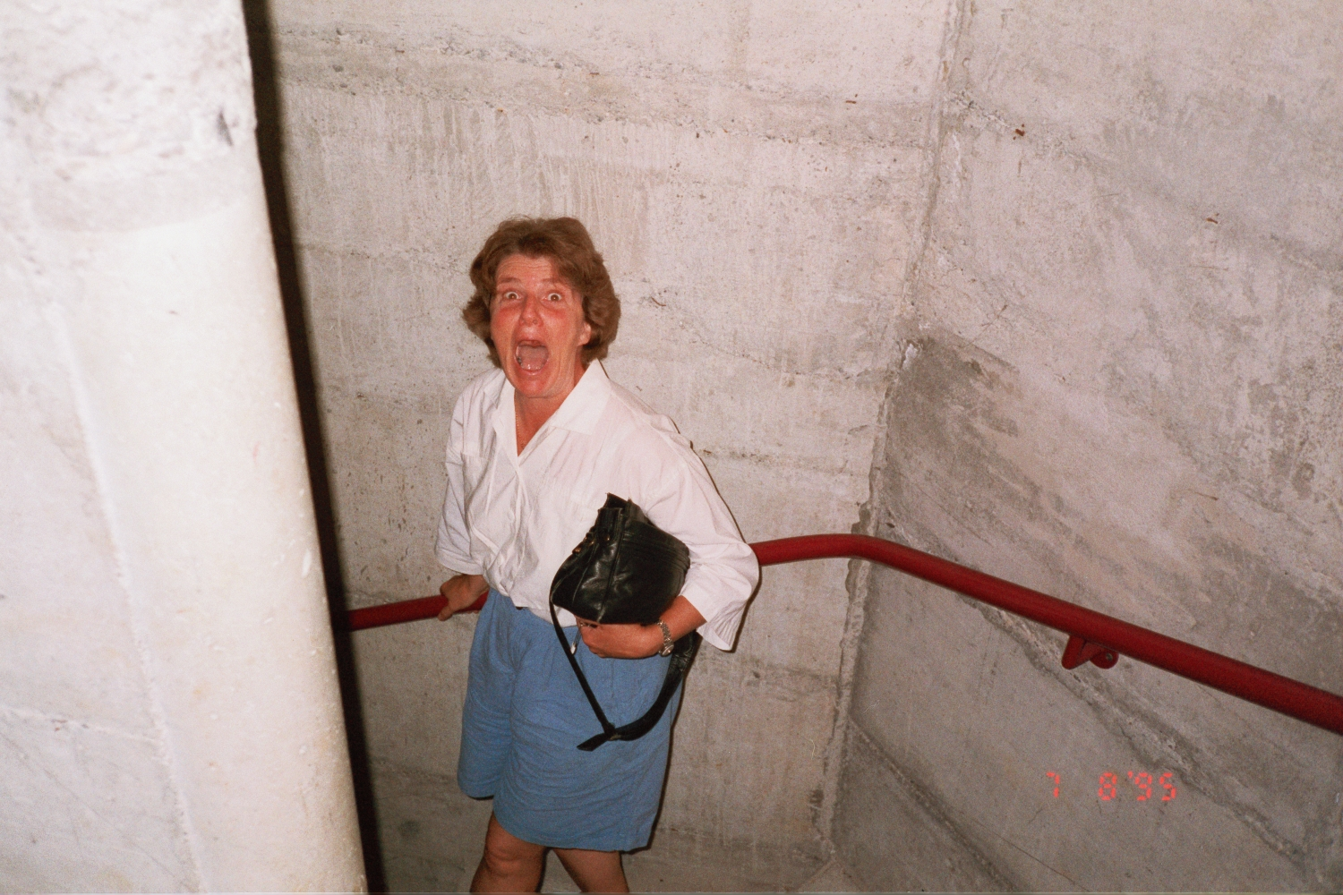 Lori Shearer in Austria in 1995